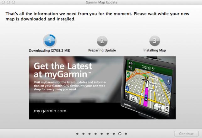 Garmin Map Update in Action