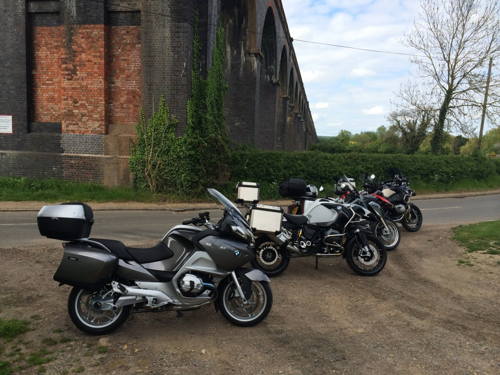 Bikes at the Welland Viaduct