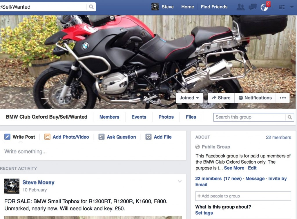 BMW Club Oxford Buy/Sell/Wanted on Facebook