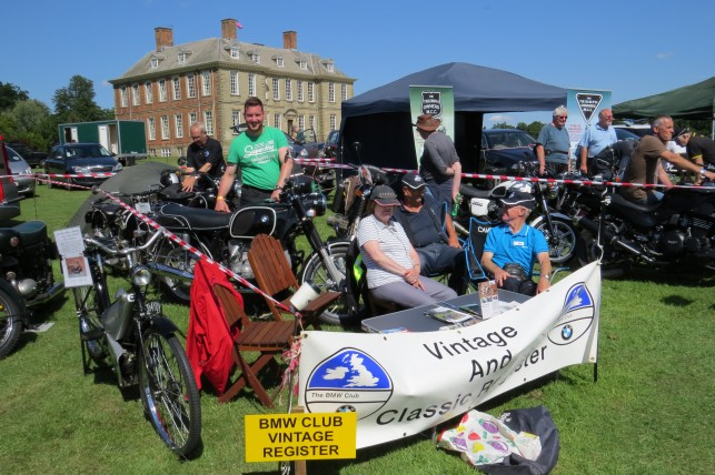BMW Vintage & Classic stand Stanford Hall Founders Day 20150719